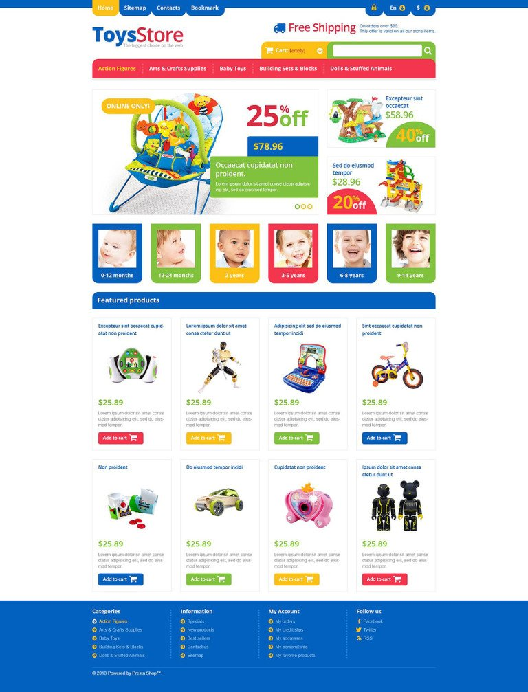 Responsive Toys Store PrestaShop Theme New Screenshots BIG