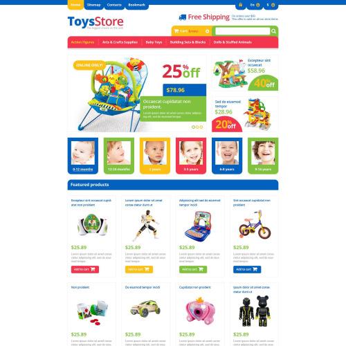 Toys Store - Responsive PrestaShop Template