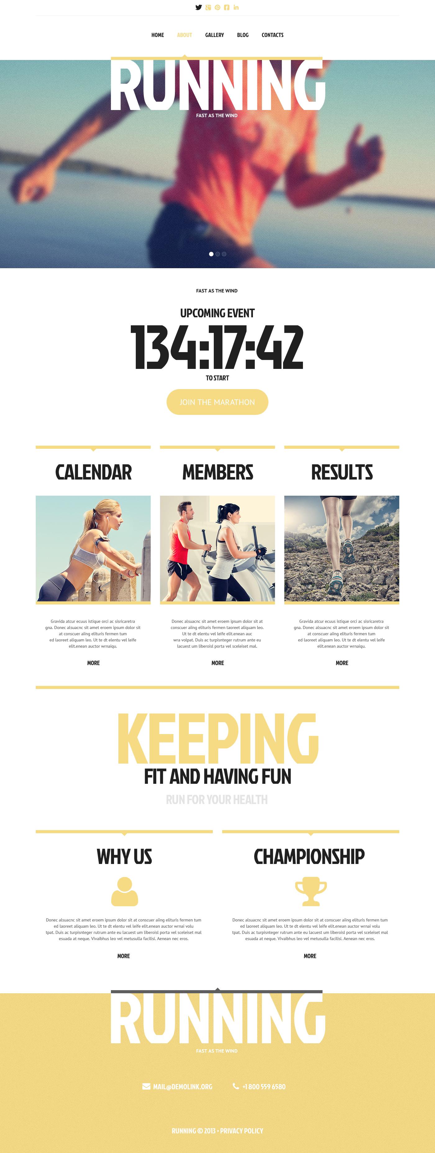 Responsywny szablon strony www #45416 na temat: bieganie