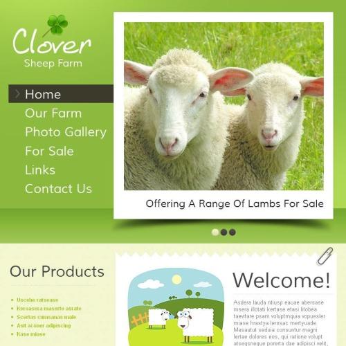 Clover Sheep Form - Facebook HTML CMS Template