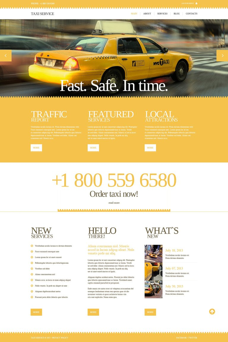 Taxi Responsive Website Template New Screenshots BIG