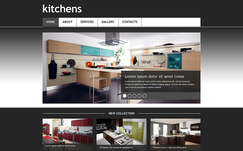Template Web Flexível para Sites de Design Interior №45404 New Screenshots BIG
