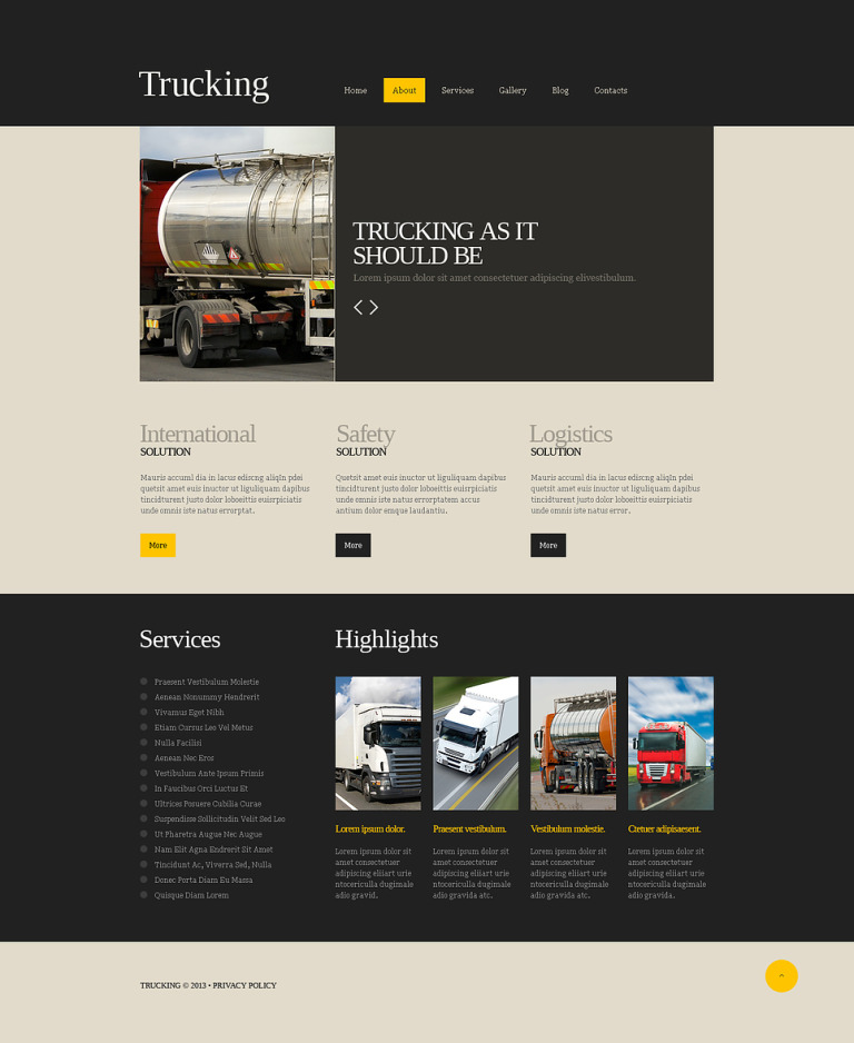 Trucking Responsive Joomla Template New Screenshots BIG