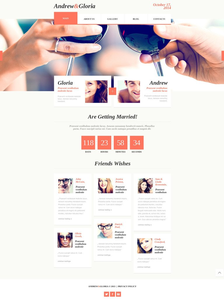 Wedding Album Responsive Website Template New Screenshots BIG