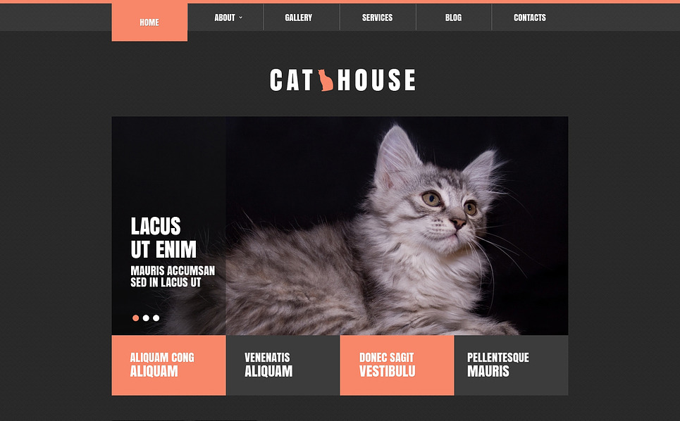 Reszponzív Macskák Joomla sablon New Screenshots BIG
