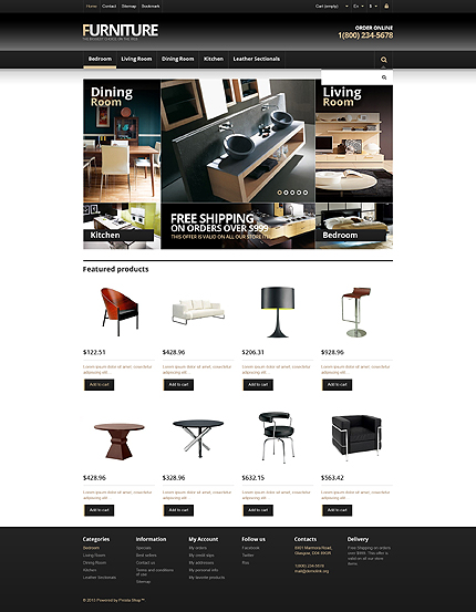 ADOBE Photoshop Template 45522 Home Page Screenshot