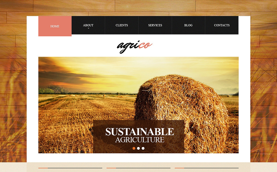 Plantilla Web Responsive para Sitio de Agricultura New Screenshots BIG