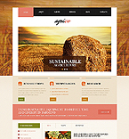 Agriculture Website  Template 45534