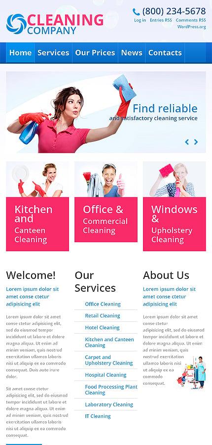 WordPress Theme/Template 45537 Main Page Screenshot
