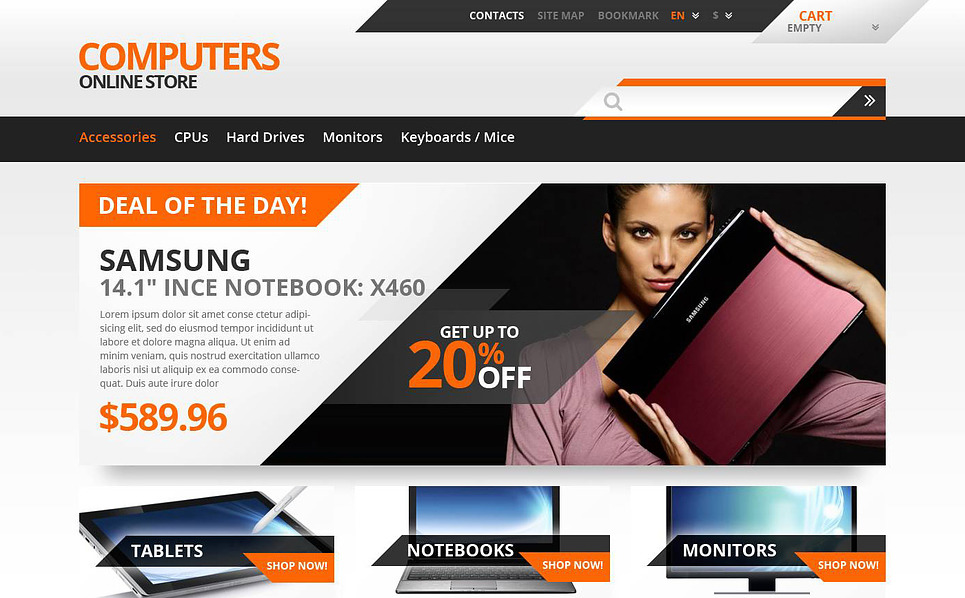Responsive PrestaShop Thema over Computer Winkel  New Screenshots BIG
