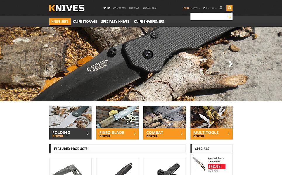 Responsywny szablon PrestaShop Responsywny sklep z nożami #45553 New Screenshots BIG