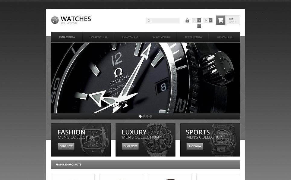Responsives PrestaShop Theme für Uhren  New Screenshots BIG