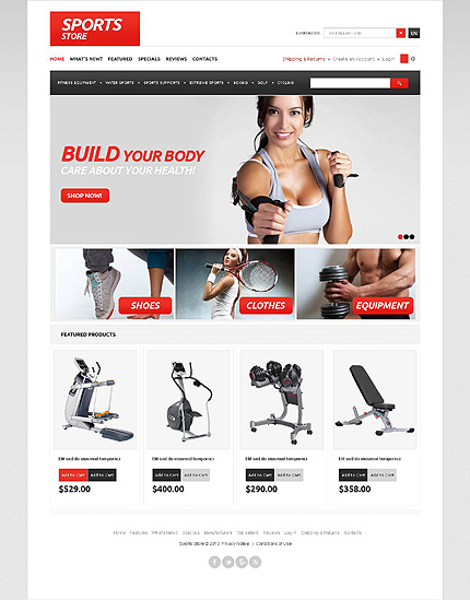 osCommerce Template 45565 Main Page Screenshot