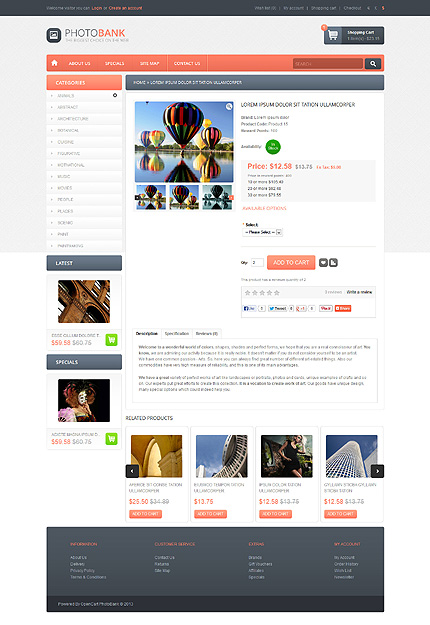 ADOBE Photoshop Template 45568 Home Page Screenshot