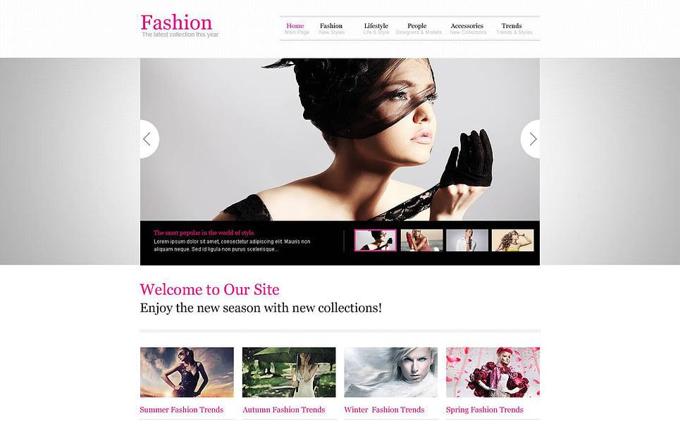 Responsive Website Vorlage für Mode  New Screenshots BIG