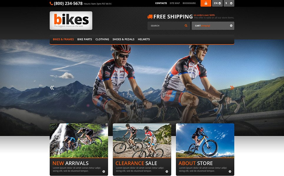Tema PrestaShop  Flexível para Sites de BMX №45584 New Screenshots BIG
