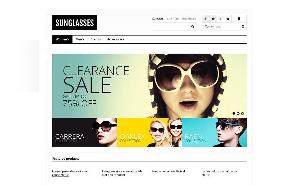 "PrestaShop Theme namens ""Responsive Sonnenbrillen-Shop"" New Screenshots BIG"