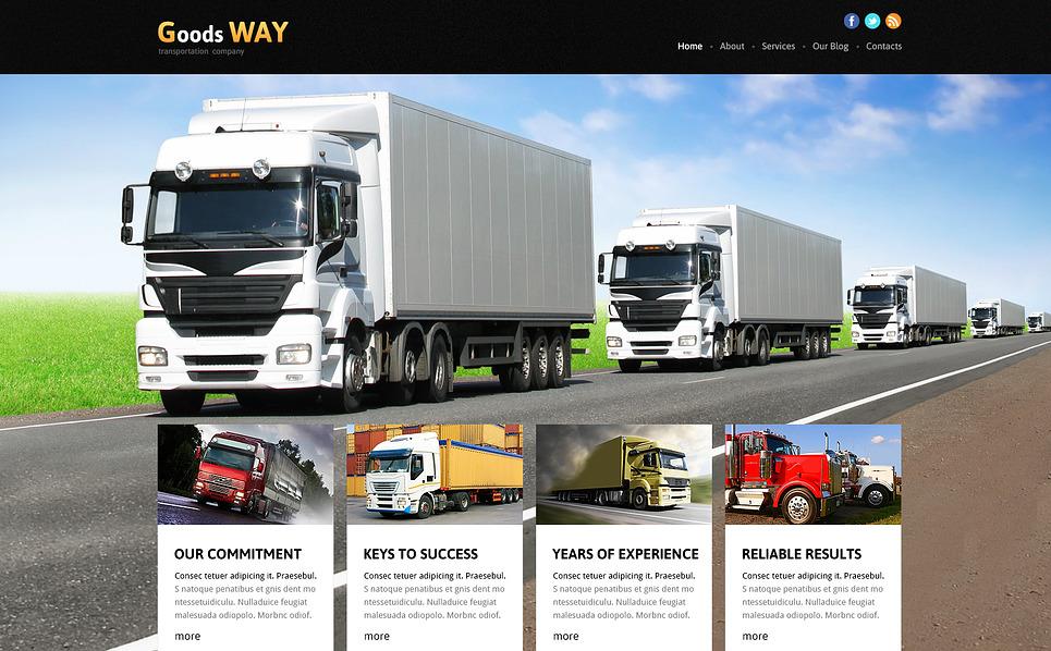 Адаптивний Joomla шаблон на тему вантажоперевезення New Screenshots BIG