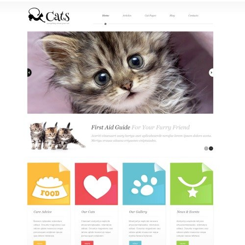 Cats - WordPress Template based on Bootstrap