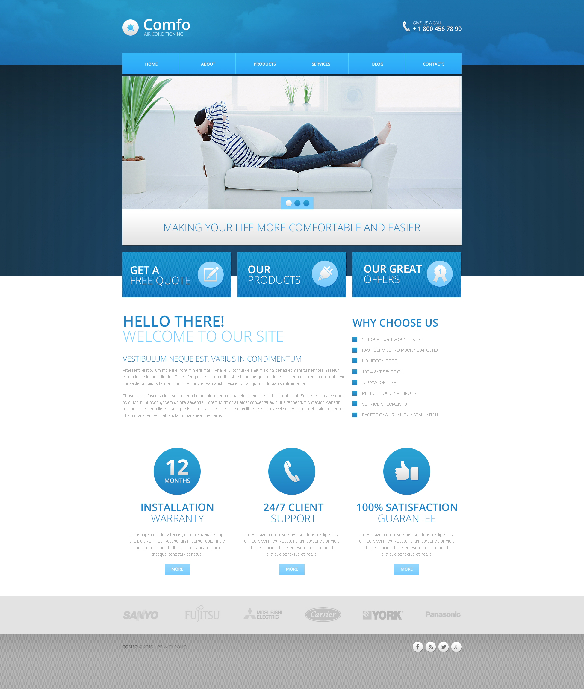 """Air Conditioning"" Drupal Template №45592"