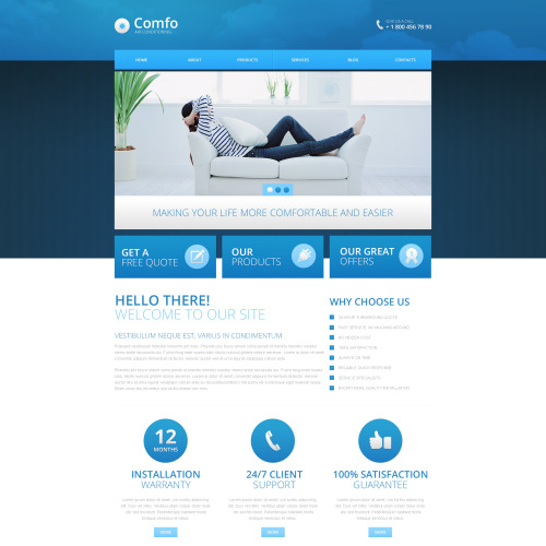 Comfo - HTML5 Drupal Template