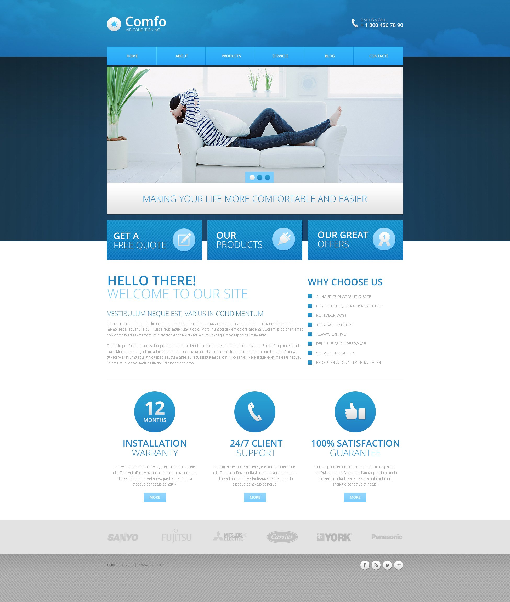 Air Conditioning Template Drupal №45592