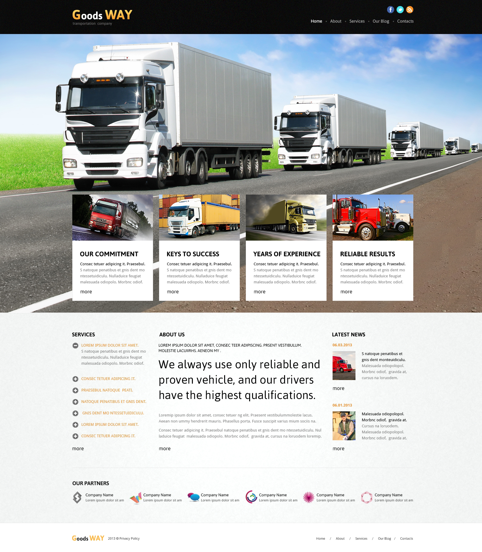 Bright Trucking Joomla Template #45595