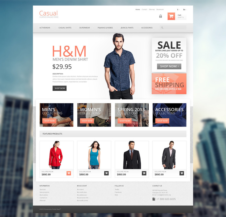 Casual Clothes Store PrestaShop Theme New Screenshots BIG