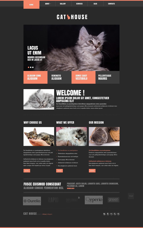 black cats joomla theme template cat responsive joomla template 45501
