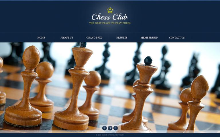 Chess Website Template New Screenshots BIG