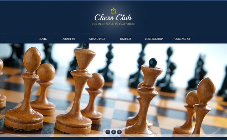 chess website template 45535