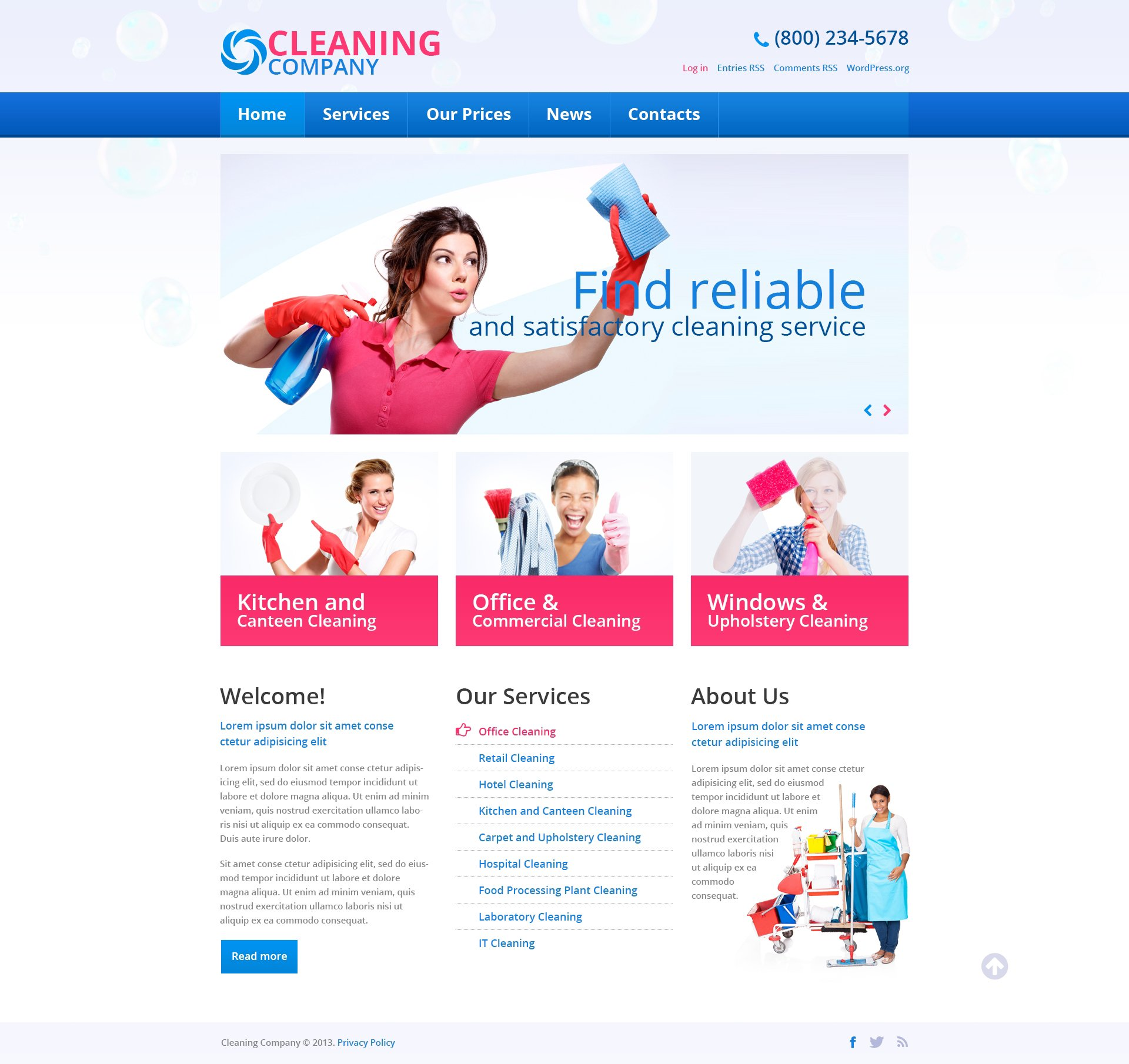cleaning services wordpress theme  cleaning services wordpress theme