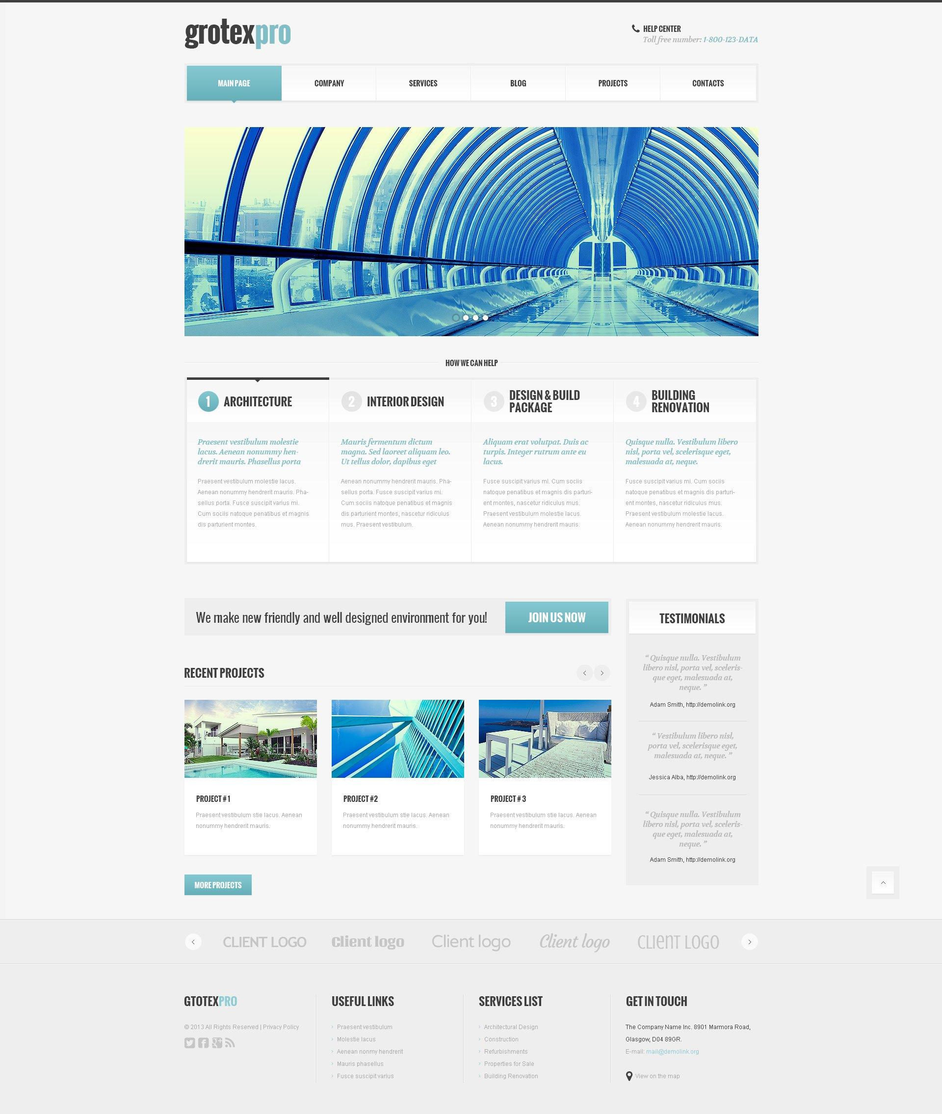 Construction Business WordPress Theme #45542