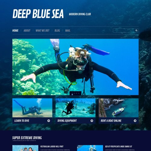 Deep Blue Sea - WordPress Template based on Bootstrap