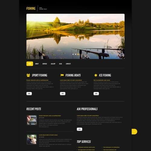 Fishing - WordPress Template based on Bootstrap