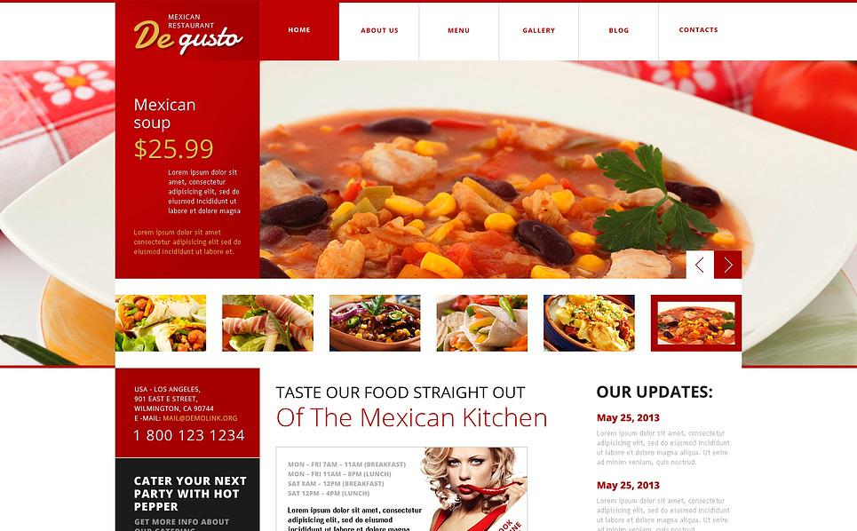 Flat Mexican Restaurant WordPress Theme #45540