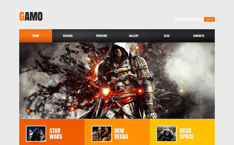 12 Gaming Bootstrap Themes & Templates