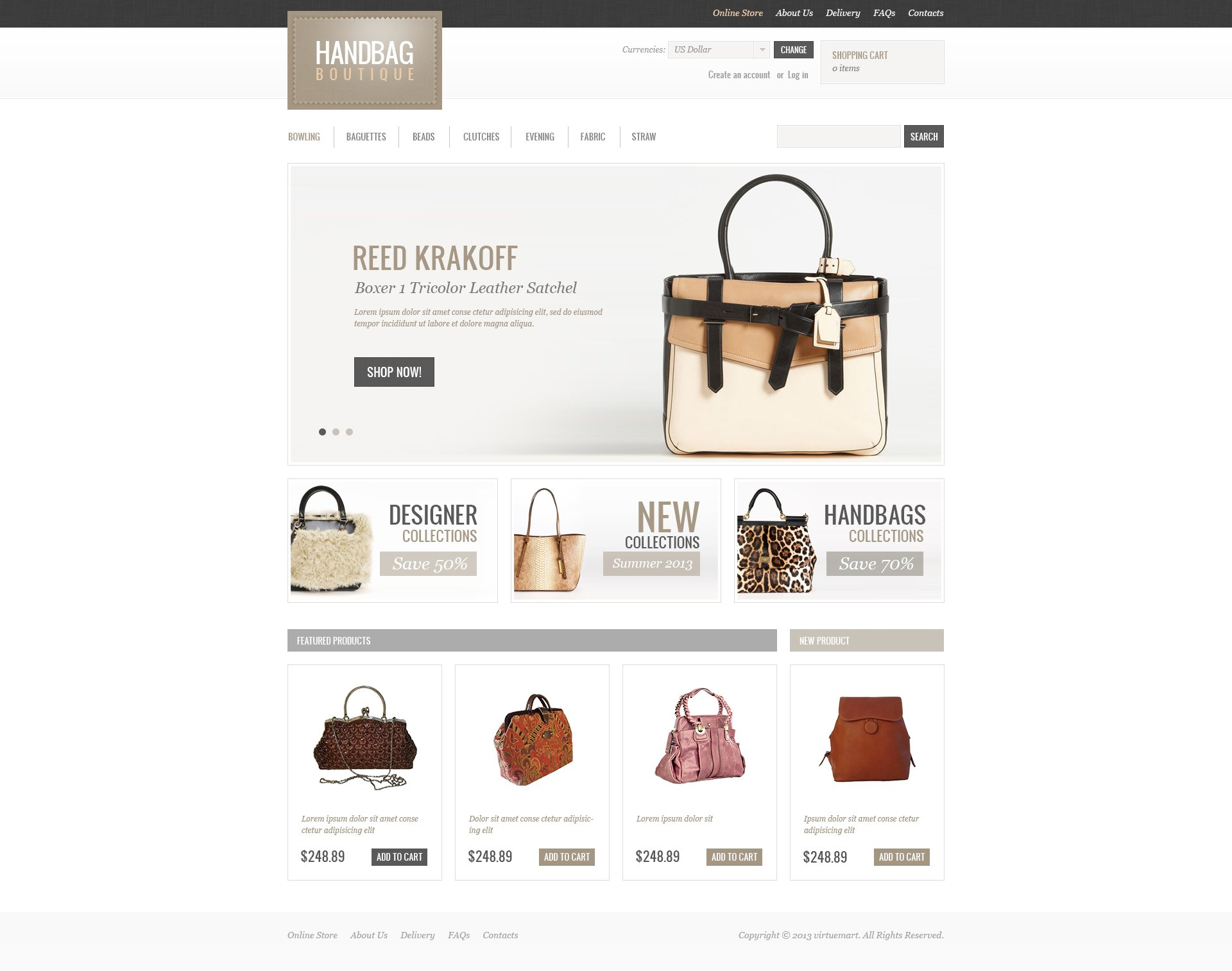 Handbag Boutique VirtueMart Template