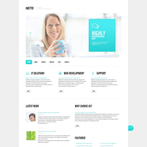 Inetto - WordPress Template based on Bootstrap