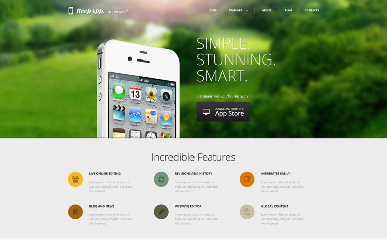 iPhone Applications WordPress Theme