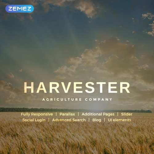 Harvester - Joomla! Template based on Bootstrap