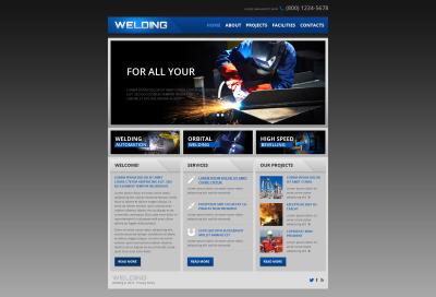 Modèle Web adaptatif  pour site d'usine métallurgique