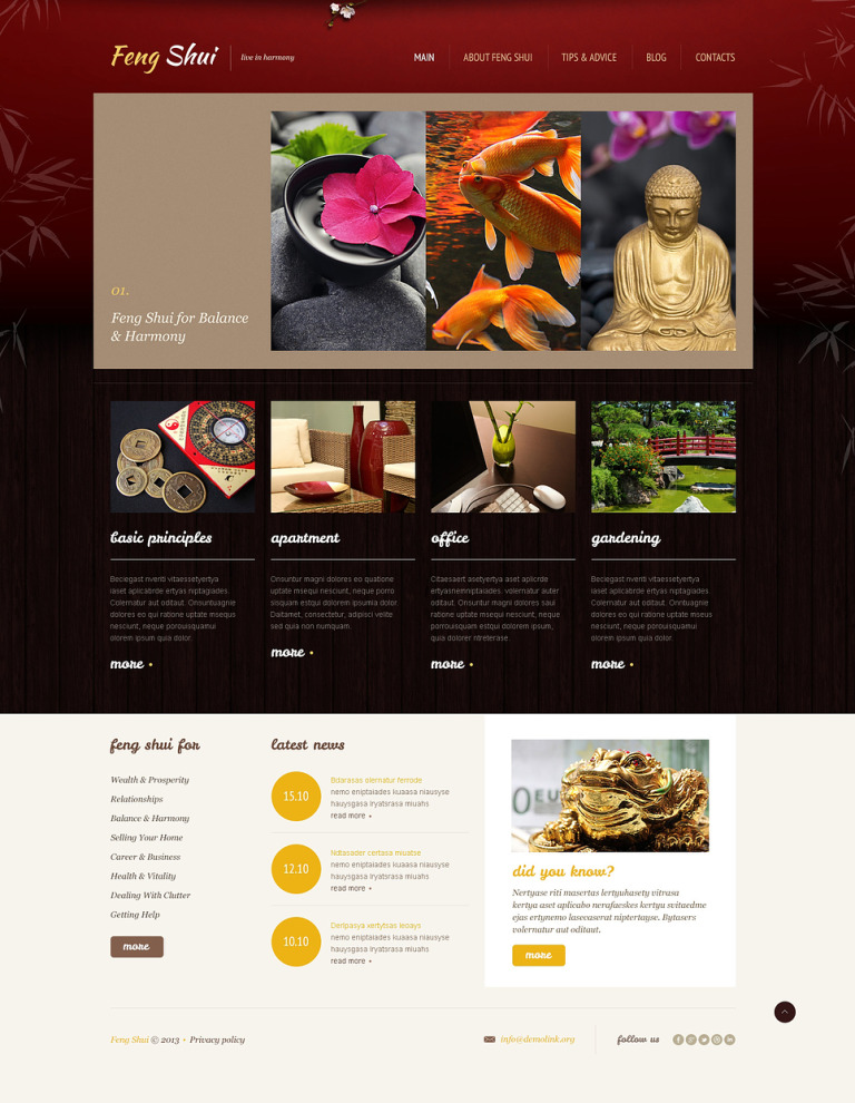 Peaceful Feng Shui WordPress Theme New Screenshots BIG