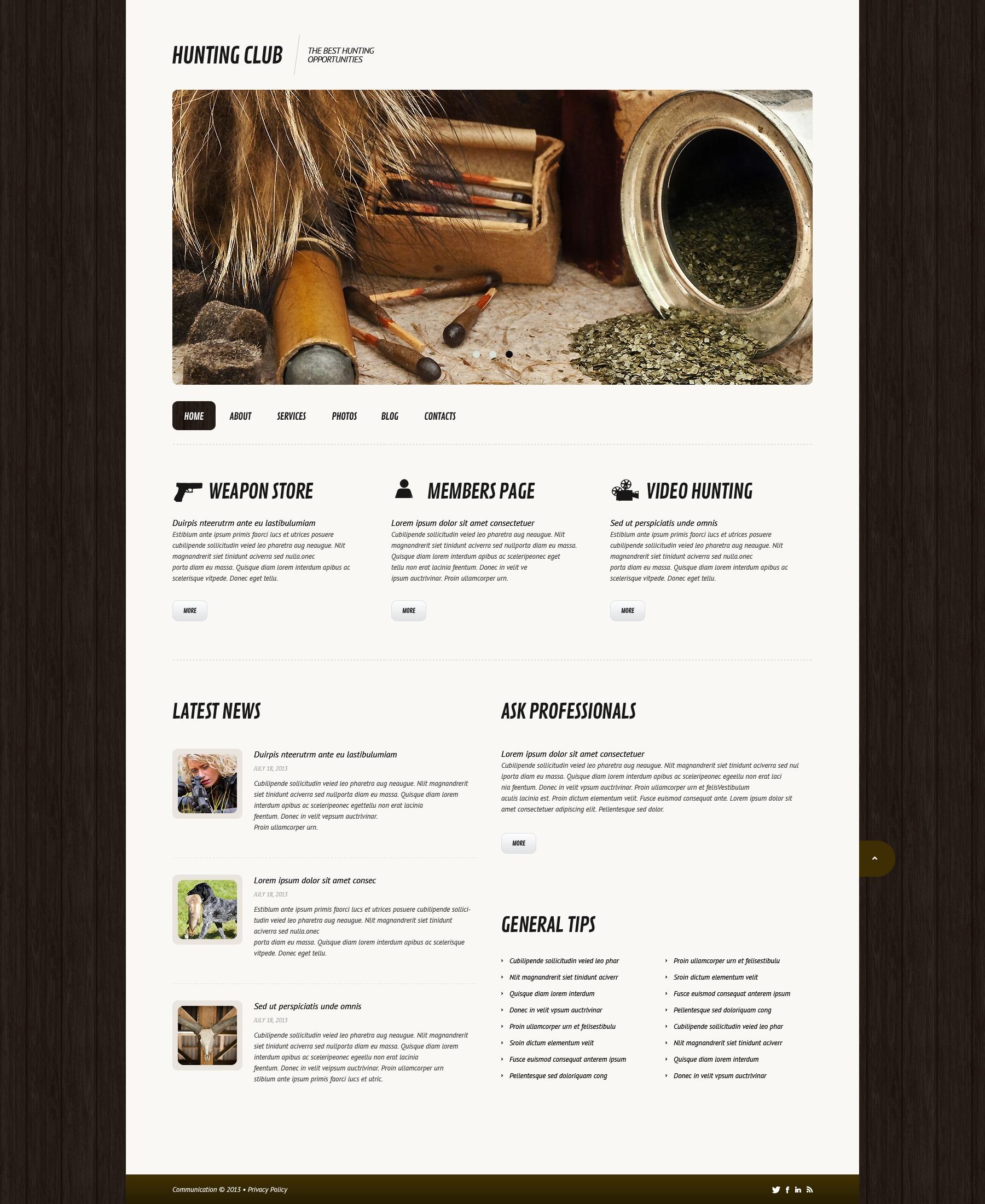 Responsive Avcılık Wordpress #45580 - Ekran resmi