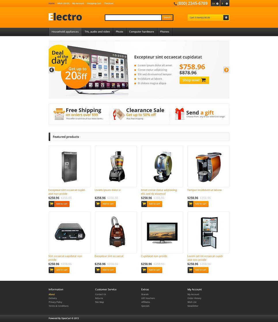 Responsive Electro Store OpenCart Template New Screenshots BIG