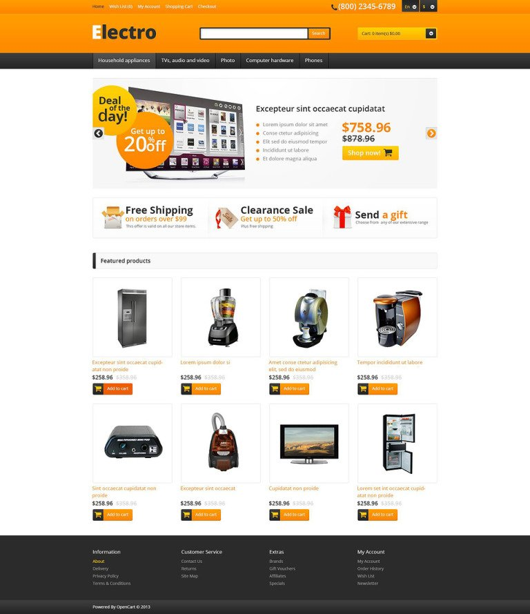 Responsive Electro Store OpenCart Template New Screenshots BIG