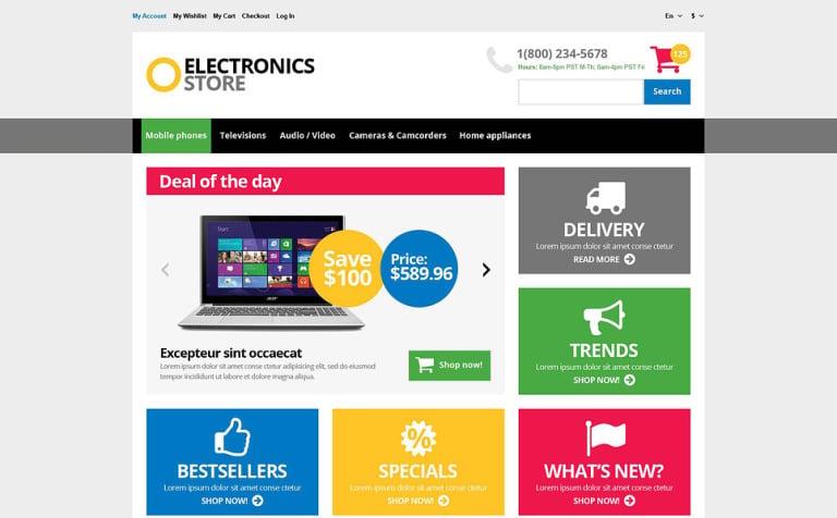 Responsive Electronics Store Magento Theme