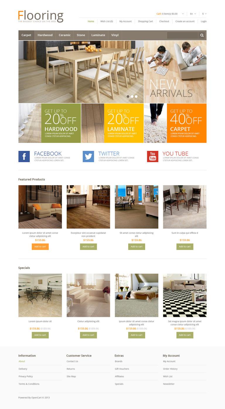Responsive Flooring Store OpenCart Template New Screenshots BIG
