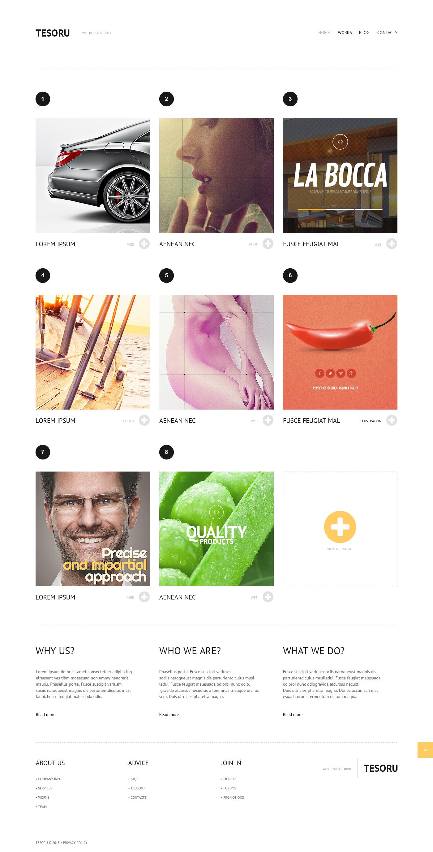 Responsive Grid Design Wordpress #45538 - Ekran resmi