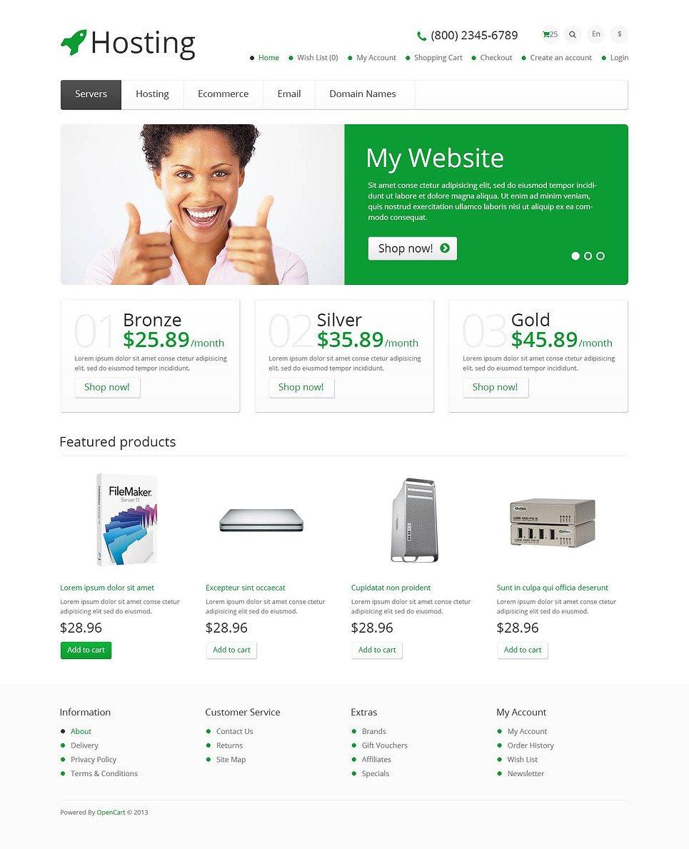 Responsive Hosting Store OpenCart Template New Screenshots BIG